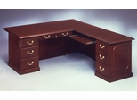DMI Traditional Office 66 Inch Executive L-Shaped Desk with Right Return -7350-48
