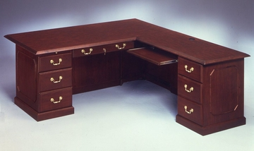 DMI Traditional Office 72 Inch Executive L-Shaped Desk with Right Return -7350-55