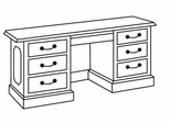 DMI Traditional Office Executive Kneehole Credenza -7350-24