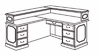 DMI Traditional Office L-Shaped Reception Desk with Left Return -7350-656