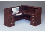 DMI Traditional Office L-Shaped Reception Desk with Left Return -7350-67