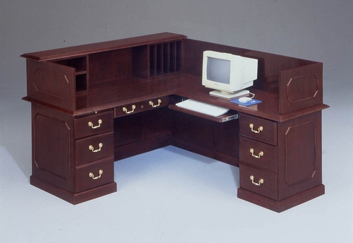 DMI Traditional Office L-Shaped Reception Desk with Right Return -7350-66