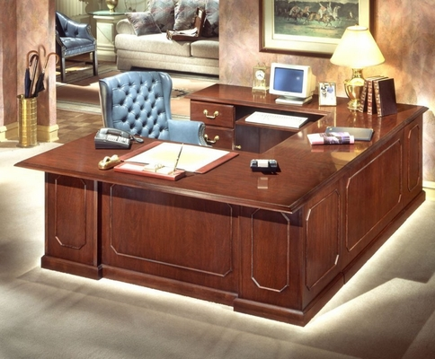 DMI Traditional Office Left Executive U-Shaped Desk -7350-58