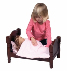 Doll Bed in Espresso - Guidecraft - G98111