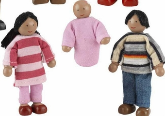 Doll Family of 7 - African American - KidKraft Furniture - 65234