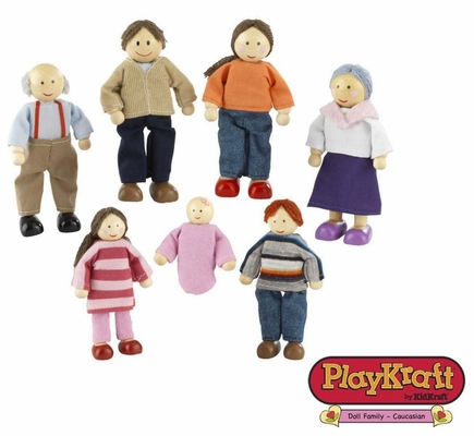 Doll Family of 7 - Caucasian - KidKraft Furniture - 65202
