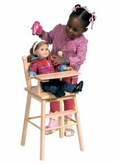 Doll High Chair in Natural - Guidecraft - G98104