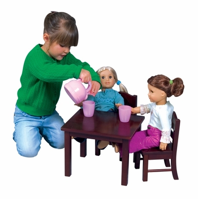 Doll Table and Chair Set in Espresso - Guidecraft - G98115