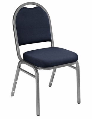 Dome Fabric Padded Stack Chair - National Public Seating - 9250
