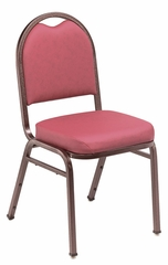 Dome Vinyl Padded Stack Chair - National Public Seating - 9200