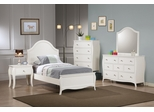 Dominique 5PC Twin Bedroom Set in White - 400561T
