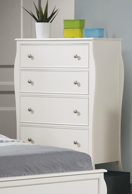 Dominique Drawer Chest in White - 400565