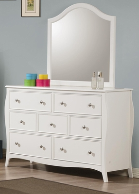 Dominique Drawer Dresser  in White - 400563