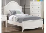 Dominique Full Youth Bed in White - 400561F