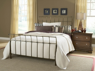 Dominique King Size Bed in Antique Gold - Hillsdale Furniture - 1523BKR