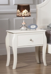 Dominique Nightstand in White - 400562