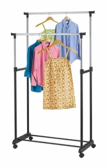 Double Adjustable Garment Rack - 3287K