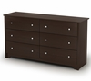Double Dresser in Chocolate - Vito - South Shore Furniture - 3119010