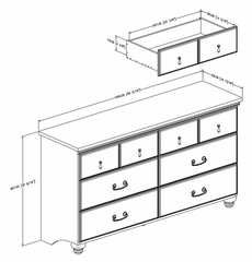 Double Dresser in Sumptuous Cherry - Noble - South Shore Furniture - 3656010