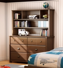 Double Dresser with Hutch in Sumptuous Cherry - Willow - South Shore Furniture - 3356027-072