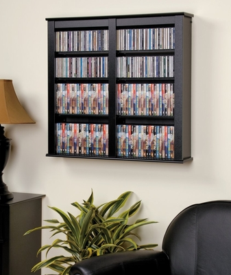 Double Floating Wall Storage in Black - Prepac Furniture - BFW-0349