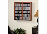 Double Floating Wall Storage in Cherry/Black - Prepac Furniture - CFW-0349