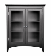 Double Floor Cabinet in Dark Espresso - Madison Avenue - 7633