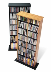 Double Multimedia Storage Tower in Black - Prepac Furniture - BMA-0320