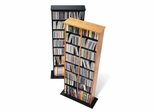 Double Multimedia Storage Tower in Oak/Black - Prepac Furniture - OMA-0320