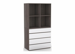 Double Open Storage Cabinet with 4 Drawer Chest - Nexera Furniture