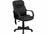 Double Padded High Back Massaging Black Leather Executive Office Chair - BT-2690P-GG
