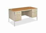 Double Pedestal Desk - Harvest - HON88962CL