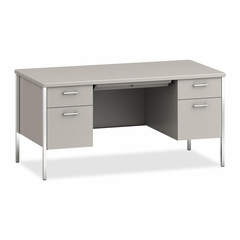 Double Pedestal Desk - Light Gray - HON84962QQ