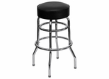 Double Ring Chrome Bar Stool - FD-D-100-GG