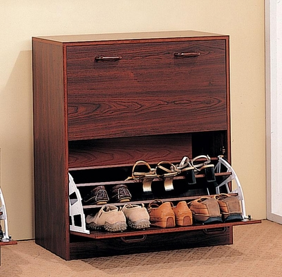 Double Shoe Rack with a Cherry Finish - 900639