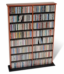 Double Width Wall Storage in Cherry/Black - Prepac Furniture - CMA-0640