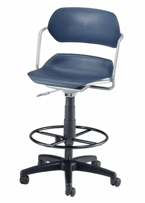 Drafting Chair - Armless Plastic Swivel Stool - OFM - 200-DK