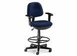 Drafting Chair - Lite Use Computer Task Chair with Arms and Drafting Kit - OFM - 150-AA-DK