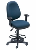 Drafting Chair - One Seat Fits All Executive Task Chair with Drafting Kit - OFM - 122-DK