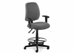 Drafting Chair - Posture Task Chair with Arms and Drafting Kit - OFM - 118-2-AA-DK