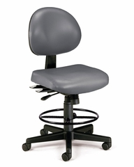 Drafting Chair - Vinyl 24 Hour Computer Task Chair with Drafting Kit - OFM - 241-VAM-DK