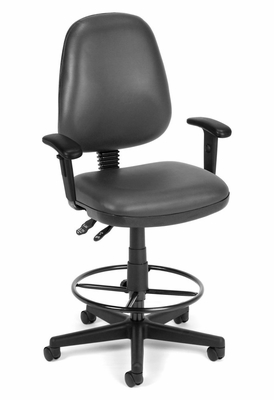 Drafting Chair - Vinyl Posture Task Chair with Arms and Drafting Kit - OFM - 119-VAM-AA-DK
