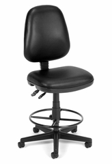 Drafting Chair - Vinyl Posture Task Chair with Drafting Kit - OFM - 119-VAM-DK