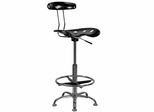 Drafting Stool / Bar Stool in Black - LF-215-BLACK-GG