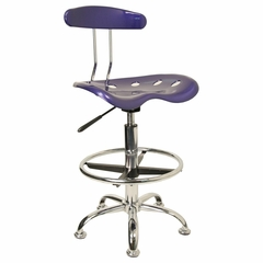 Drafting Stool / Bar Stool in Deep Blue - LF-215-DEEPBLUE-GG