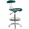 Drafting Stool / Bar Stool in Green - LF-215-GREEN-GG