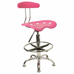 Drafting Stool / Bar Stool in Pink - LF-215-PINK-GG