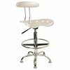 Drafting Stool / Bar Stool in Silver - LF-215-SILVER-GG