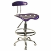 Drafting Stool / Bar Stool in Violet - LF-215-VIOLET-GG