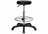 Drafting Stool with Black Vinyl Seat - KC96KG-GG